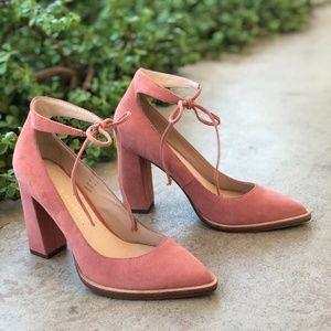 Loeffler Randall Rita Pink Suede Pumps Heels